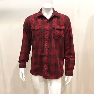 The North Face Men's Red Check Plaid Snap Shirt